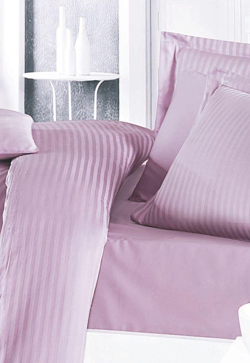 Комплект белья Clasy Stripe Satin, евро, наволочки 50х70, цвет: лиловый. 5237S03301004Товары под брендом Clasy изготовлены в Турции из высококачественного хлопка на одной из ведущих фабрик. Все изделия упакованы в подарочные картонные коробки, к которым прилагается фирменный пакет с логотипом.