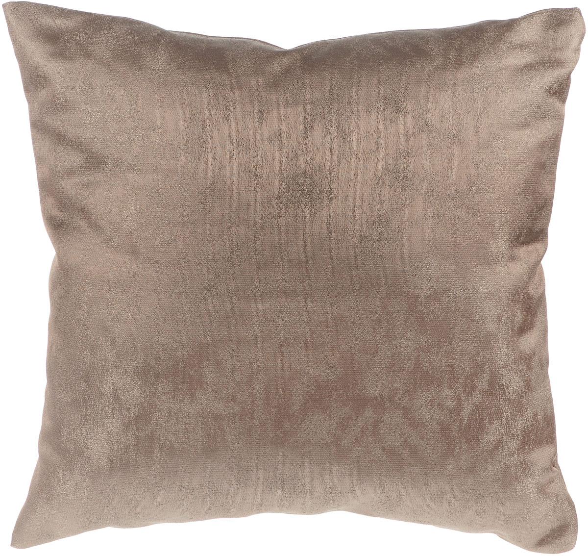 Подушка декоративная KauffOrt Магия, цвет: кофейный, 40 x 40 см531-401Декоративная подушка Магия прекрасно дополнит интерьер спальни или гостиной. Очень нежный на ощупь чехол подушки выполнен из прочного полиэстера. Внутри находится мягкий наполнитель. Чехол легко снимается благодаря потайной молнии. Красивая подушка создаст атмосферу уюта и комфорта в спальне и станет прекрасным элементом декора.
