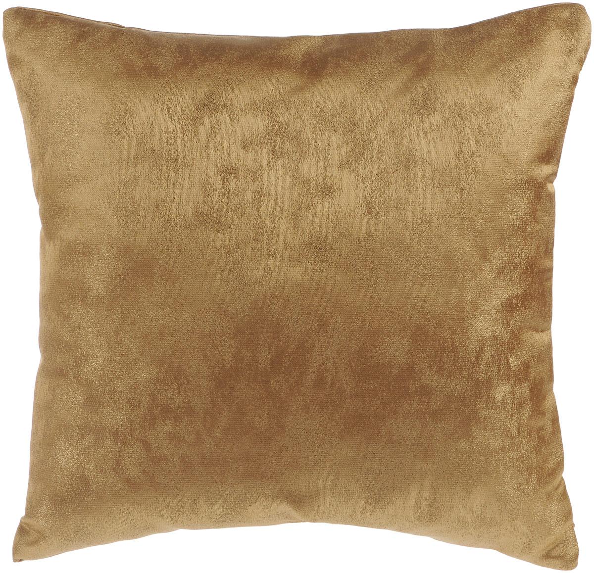 Подушка декоративная KauffOrt Магия, цвет: коричневый, 40 x 40 смS03301004Декоративная подушка Магия прекрасно дополнит интерьер спальни или гостиной. Приятный на ощупь чехол подушки выполнен из полиэстера. Внутри находится мягкий наполнитель. Чехол легко снимается благодаря потайной молнии в тон ткани. Красивая подушка создаст атмосферу уюта и комфорта в спальне и станет прекрасным элементом декора.