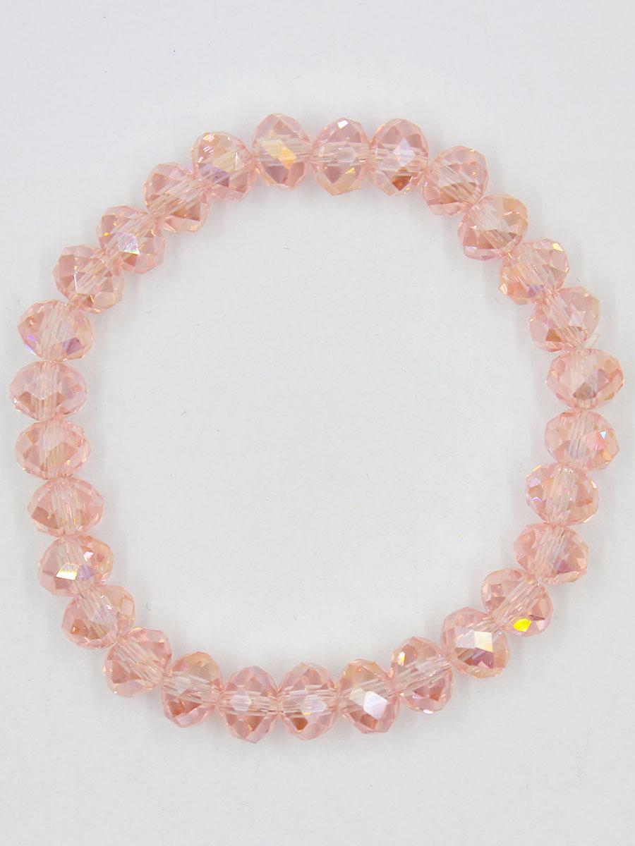 Браслет Taya, цвет: розовый. T-B-11782-BRAC-PINKГлидерный браслетУниверсальный однотонный браслет на резинке. Огранка кристаллов идеальная. они ярко искрятся под любым освещением. Такой браслет можно носить с фирменными часами TAYA, а также с другими такими же браслетами в цветовой гамме.