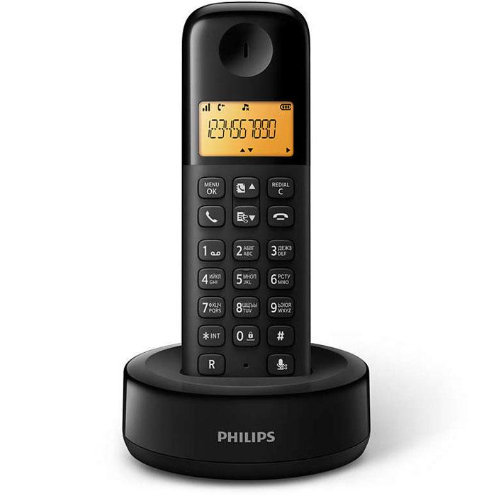 Philips D1301B/51 радиотелефонKX-TGJ322RUBСтильный беспроводной телефон Philips D1301B/51 с привлекательным дизайном оснащен важнымиинтеллектуальными функциями. Превосходное воспроизведение звука, интуитивно понятные функции,великолепная четкость звучания во время разговора — просто подключите телефон с помощью функции Plug &Play, и он сразу будет готов к использованию.Автоматический контроль громкости компенсирует изменения звукового сигнала, которые могут быть вызваныбольшим расстоянием, уровнем сигнала или телефоном вызывающего абонента, для неизменного уровнязвучания. Уменьшение уровня звука для мощных сигналов и увеличение уровня звука для слабых сигналовобеспечивает бесперебойный разговор без нежелательного изменения громкости звука.Телефоны Philips отличаются экономичным энергопотреблением, что снижает негативное воздействие наокружающую среду.Легкая установка, навигация и управление благодаря интуитивно понятному меню на разных языках.Оптимизированное расположение антенны обеспечивает мощный и стабильный прием сигнала даже вкомнатах, где беспроводная связь может быть затруднена. Теперь можно принимать звонки в любом месте инаслаждаться длительным и беспрерывным разговором при передвижении по дому.При цифровой обработке звука используется параметрический эквалайзер для точной подстройки звуковойхарактеристики до запланированной линейной кривой амплитудно-частотной характеристики, обеспечиваячистое и четкое звучание каждого разговора.Иногда перед ответом хочется знать, кто звонит. Идентификатор входящего вызова позволяет отслеживать,кто находится на другом конце линии.Для дополнительного комфорта задняя панель телефонной трубки имеет специальное текстурное покрытие.Питание: 2 аккумулятора ААА (Ni-Mh) Дальность: до 50 м в помещении