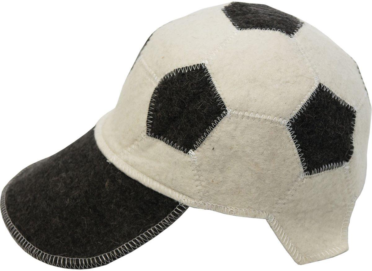 Шапка для бани и сауны Банные штучки Футбольный мяч531-401Банная шапка Банные штучки изготовлена из войлока.Банная шапка - это незаменимый аксессуар для любителей попариться в русской бане и для тех, кто предпочитает сухой жар финской бани. Кроме того, шапка защитит волосы от сухости и ломкости, и предотвратит тепловой удар. На шапке имеется петелька, с помощью которой ее можно повесить на крючок в предбаннике.Такая шапка станет отличным подарком длялюбителей отдыха в бане или сауне.Размер: универсальный.
