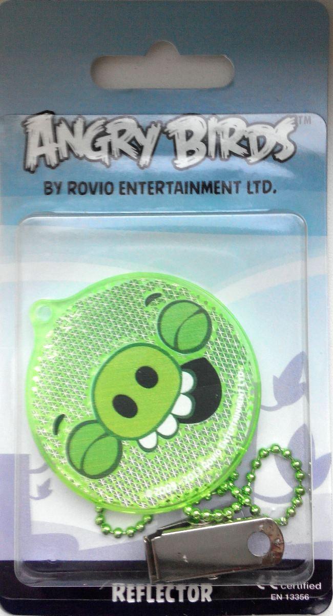Светоотражатель пешеходный Coreflect Angry Birds Pig Happy, цвет: зеленыйSC-FD421005Пешеходный светоотражатель - это серьезное средство безопасности на дороге. Использование светоотражателей позволяет в десятки раз сократить количество ДТП с участием пешеходов в темное время суток. Светоотражатель крепится на одежду и обладает способностью к направленному отражению светового потока. Благодаря такому отражению, водитель может вовремя заметить пешехода в темноте, даже если он стоит или двигается по обочине. А значит, он успеет среагировать и избежит возможного столкновения. С 1 июля 2015 года ношение светоотражателей вне населенных пунктов является обязательным для пешеходов! Мы рекомендуем носить их и в городе! Для безопасности и сохранения жизни!