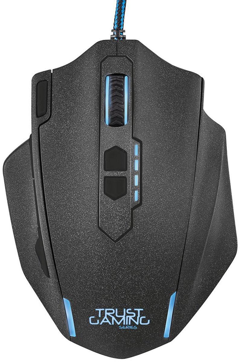 Trust GXT 155, Black игровая мышьOP-720 (BLACK)Многофункциональная игровая мышь премиум-класса Trust GXT 155 с изменяемым весом и внутренней памятью для профилей настройки. Мышь имеет мощную аппаратную начинку и эргономичный корпус. Благодаря 5 дополнительным программируемым кнопкам под большой палец идеально подходит для игр в жанре MOBA. Память устройства позволяет хранить до пяти игровых профилей. 8 металлических грузиков (весом 2 г каждый) помогут подобрать оптимальный вес мыши. В комплект входит расширенная версия ПО для программирования кнопок и создания макросов.Частота опроса: 125/250/500/1000 Гц
