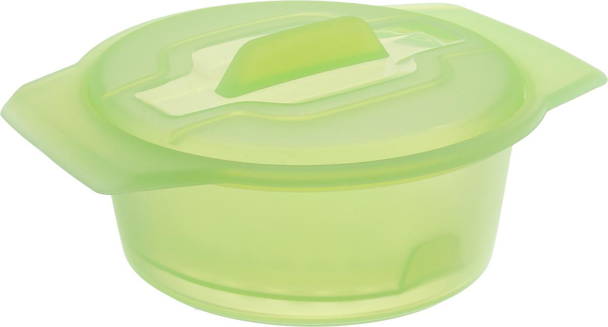Контейнер-пароварка Tescoma Fusion Diet Revolution, силиконовый, цвет: зеленый, диаметр 12 см115510Уникальная силиконовая пароварка с внутренней подставкой-решеткой и крышкой. Предназначена для приготовления низкокалорийных блюд на пару и в духовке. При приготовлении в посуде Fusion Diet Revolution внутри контейнеров создается интенсивныймикроклимат, который придает блюдам ряд уникальных особенностей. Все предметы изготовлены из термостойкого силикона, выдерживают температуру до 230°С. Подходит для всех типов печей, в том числе микроволновой печи, а также для холодильника иморозильной камеры. Можно мыть в посудомоечной машине.В комплект входит книга с рецептамидиетического питания.Диаметр контейнера: 12 см.Длина ручек: 2,5 см.Высота стенки контейнера: 6 см.
