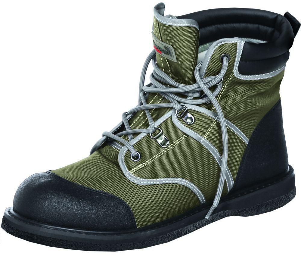 Ботинки для рыбалки FisherMan Nova Tour Аэр Фелт, цвет: хаки. 95943-530. Размер 43ЛЦ0050_XL_мужСпециальные ботинки для забродной рыбалки на войлочной подошве