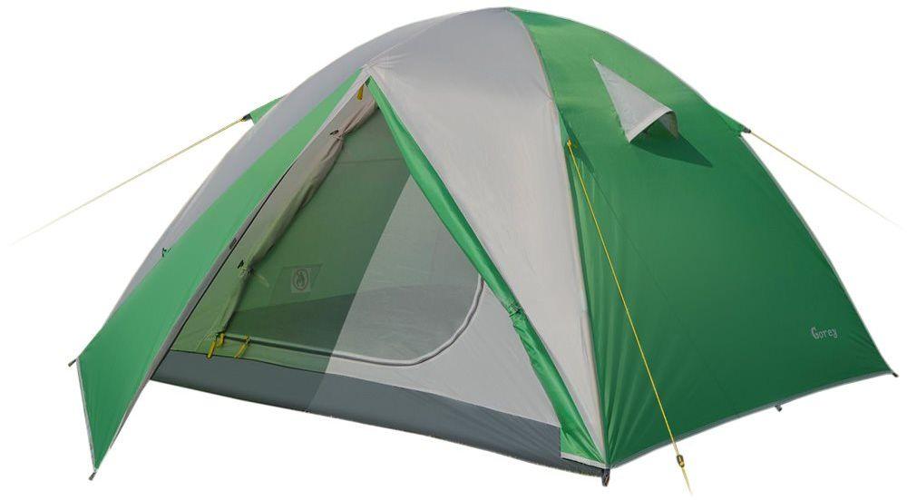 Палатка Greenell Гори 3 V2, цвет: зеленый, светло-серый800802Универсальная трехместная палатка Greenell Гори 3 V2 идеально подходит для путешествий и походов.В палатке 2 входа и 2 тамбура. Имеется проточная вентиляция. Каркас достаточно прочный и долговечный, выполнен из фибергласса. Водостойкость тента (мм/в.ст.): 2000.