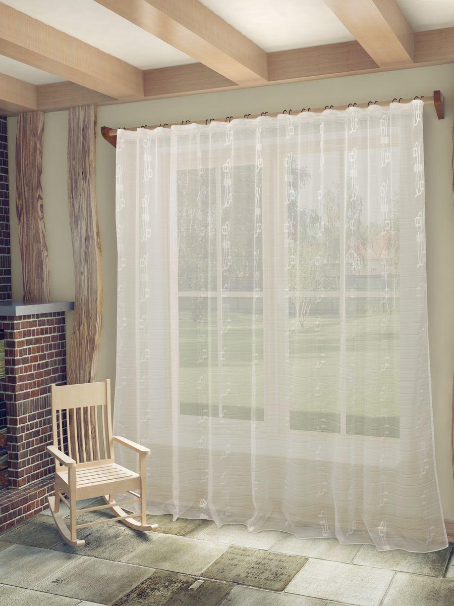 Тюль Sanpa Home Collection Регина, на ленте, цвет: белый, высота 260 см10503Тюль Регина нежного цвета изготовлена из высококачественных материалов.Воздушная ткань привлечет к себе внимание и идеально оформит интерьер любого помещения.Тюль сделает ваш интерьер более нежным, воздушным и невесомым. Можно драпировать окно только тюлью или только портьерами, но вместе они создают идеальную композицию. Мы рекомендуем под однотонные портьеры нейтральных тонов подбирать сложносочиненную тюль, с изысканной вышивкой и орнаментом, а под портьеры с рисунком или ярких тонов - выбирать тюль с минималистичным рисунком или вообще без него. Крепление к карнизу осуществляется при помощи вшитой шторной ленты.