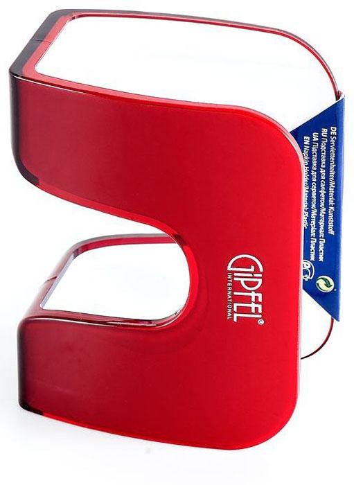 Подставка для салфеток Gipfel Arco, цвет: красный, белый, 12,3 х 6,2 х 9,6 смVT-1520(SR)Посуда Gipfel изготовлена только из качественных, экологически чистых материалов. Также уделяется особое внимание дизайну продукции, способному удовлетворять вкусы даже самых взыскательных покупателей. Сталь 8/10, из которой изготавливается посуда и аксессуары Gipfel, является уникальной. Она отличается высокими эксплуатационными характеристиками и крайне устойчива к физическим воздействиям. Сложно найти более подходящий для создания качественной кухонной посуды материал. Отличительной чертой металлической посуды, выполненной из подобной стали, является характерный сероватый оттенок поверхности и особый блеск. Это позволяет приготовить более здоровую пищу.