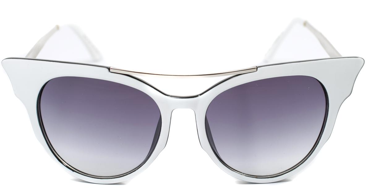 Очки солнцезащитные женские Mitya Veselkov, цвет: белый. OS-1772-037-009Прекрасные антибликовые очки Mitya Veselkov, станут прекрасным и стильным аксессуаром для вас и защитят от УФ лучей. Они помогут глазу более четко распознать картинку, засвеченную солнечными лучами, при этом скорректируют все возникшие искажения.