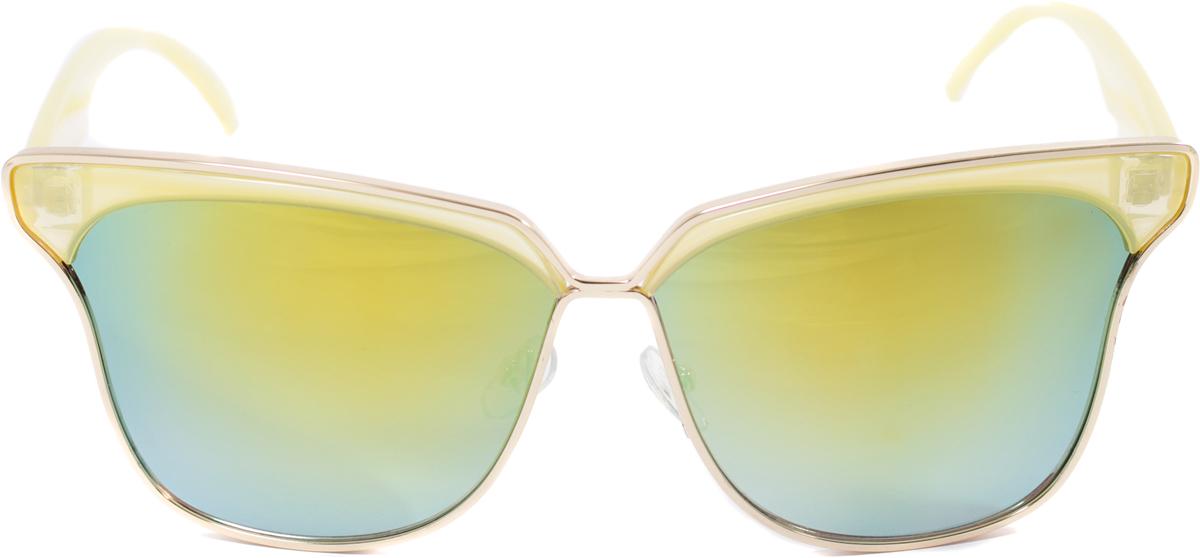 Очки солнцезащитные женские Mitya Veselkov, цвет: желтый. OS-114TL-49-PRПрекрасные антибликовые очки Mitya Veselkov, станут прекрасным и стильным аксессуаром для вас и защитят от УФ лучей. Они помогут глазу более четко распознать картинку, засвеченную солнечными лучами, при этом скорректируют все возникшие искажения.