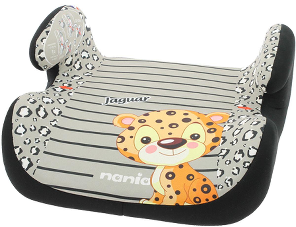 Nania Автокресло-бустер Topo Comfort Jaguar от 15 до 36 кг цвет серыйSC-FD421005Бустер Nania Topo Comfort. Jaguar имеет мягкое покрытие, а удобные подлокотники обеспечивают ребенку комфорт во время путешествия. Ребенок фиксируется штатными автомобильными ремнями.Кресло-бустер устанавливается в автомобилях с 3-точечными ремнями безопасности на переднем сиденье рядом с водителем или на заднем сиденье с краю. Кресло устанавливается в машине по направлению движения. Сидение оформлено изображением милого маленького ягуара.