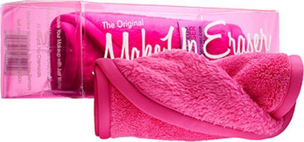 MakeUp Eraser салфетка для снятия макияжа розоваяL08-8Makeup Eraser Original (розовая) уникальная салфетка, которая с невероятной легкостью снимает макияж, аккуратно очищая кожу лица абсолютно естественным образом. Салфетка воздействует без применения привычных средств для удаления декоративной косметики или умывания, значительно упрощает повседневный ритуал ухода и очищения, делает его приятным и легким. Секрет магических свойств салфетки Makeup Eraser заключается в особом переплетении полиэстеровых нитей. При производстве изделия поверхность ткани не подвергается никакой химической обработке, что гарантирует ее гипоаллергенность и безопасность применения, а для того, чтобы начать процедуру использования салфетки, достаточно просто хорошо смочить ее в чистой теплой воде.Салфетку Makeup Eraser можно с успехом применять для любого типа кожи, в том числе очень чувствительной, ее мягкое воздействие не вызывает раздражений или покраснений, высокий уровень качества ткани гарантирует длительное использование салфетки, а ее великолепные очищающие и ухаживающие свойства не снижаются даже после многократных стирок изделия.