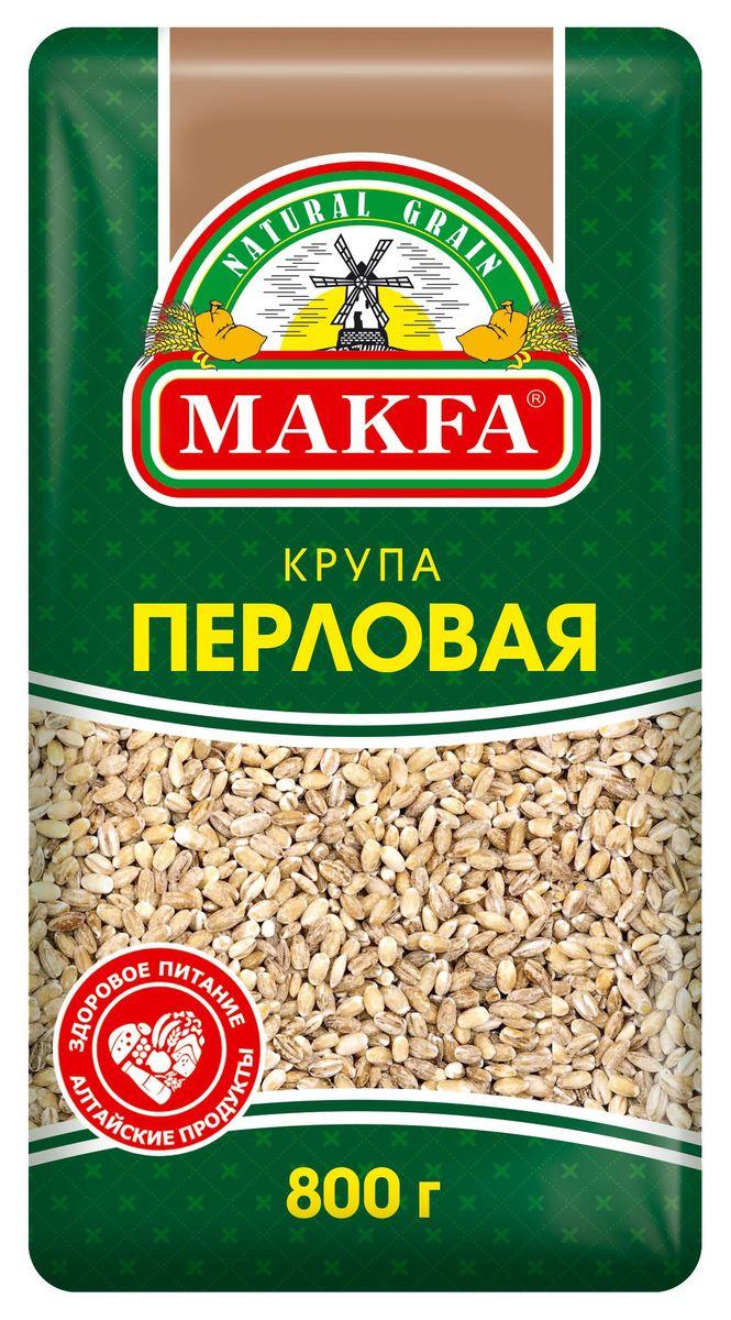 Makfa перловая крупа ячменная, 800 г0120710Перловая, или жемчужная крупа - это отшлифованные цельные зерна ячменя. Изпредставленных круп МAKFA крупа перловая - одна из самых низкокалорийных.Гликемический индекс среди круп у нее тоже один из самых низких.