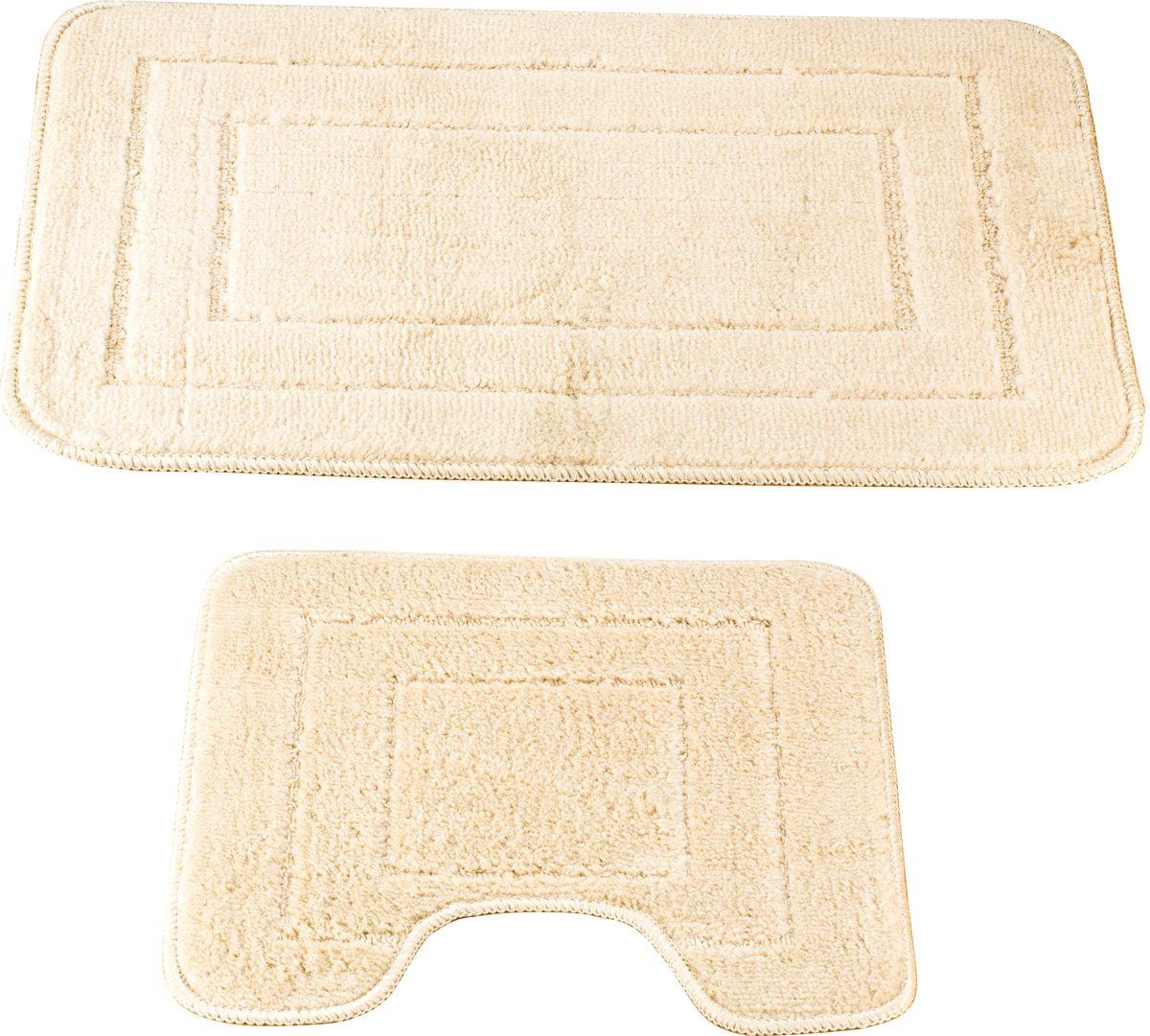 Набор ковриков для ванной Swensa Como, цвет: бежевый, 45 х 70 см, 45 х 45 см, 2 шт19201Набор ковриков Como — аксессуар для ванной комнаты, сочетающий отличные эксплуатационные характеристики с привлекательной расцветкой. Изделие выполнено из гипоаллергенного и износостойкого полипропиленового волокна. Рельефный ворс различной длины обеспечивает приятные тактильные ощущения и легкий массажный эффект. Края обработаны оверлоком, что предохраняет коврик от разлохмачивания и деформации. Рекомендована деликатная машинная стирка.