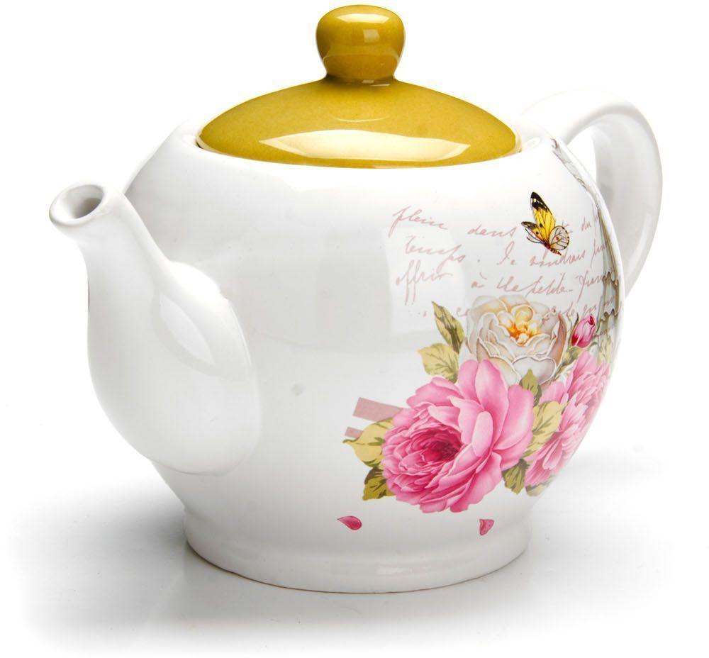 Заварочный чайник Loraine Пионы, 950 мл. 26330115510Заварочный чайник с крышкой поможет вам в приготовлении вкусного и ароматного чая, а также станет украшением вашей кухни. Он изготовлен из доломитовой керамики в красивых тонах и оформлен красочным изображением. Нежный рисунок придает чайнику особый шарм, чайник удобен в использовании и понравится каждому. Такой заварочный чайник станет приятным и практичным подарком на любой праздник. Подходит для мытья в посудомоечной машине.