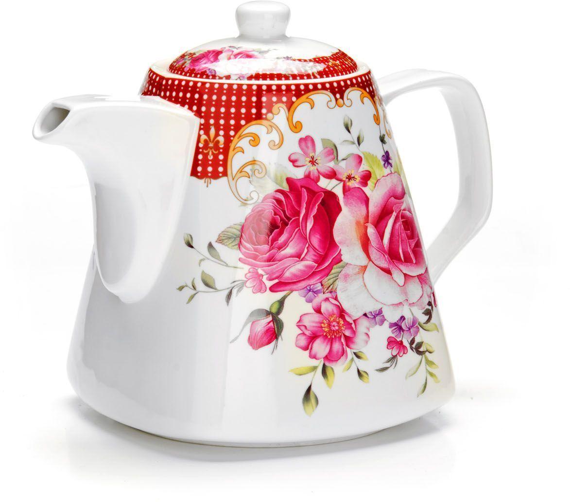 Заварочный чайник Loraine Цветы, 1,1 л. 2654694672Заварочный чайник изготовлен из высококачественной керамики. Посуда из данного материала позволяет максимально сохранить полезные свойства и вкусовые качества воды. Украшенные изящным рисунком стенки чайника, придают ему эстетичности на столе. Чайник изысканно украсит стол к чаепитию и порадует вас классическим дизайном и качеством исполнения. Не использовать в микроволновой печи. Не применять абразивные моющие средства.