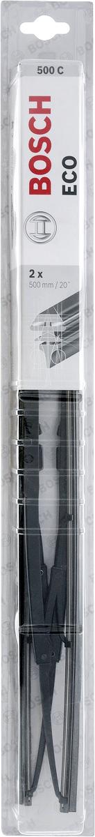 Щетка стеклоочистителя Bosch Eco 500С, каркасная, длина 50 см, 2 штCA-3505Универсальная щетка Bosch Eco 500С - функциональныйстеклоочиститель с металлическими скобами, которыйхарактеризуется хорошей эффективностью очистки икачеством. Каркас щетки выполнен из металла сантикоррозийным покрытием и имеет форму,способствующую уменьшению подъемной силы навысоких скоростях. Натуральная резина щетки сграфитовым напылением обеспечивает тщательностьочистки. Щетка имеет крепление крючок. Быстрыймонтаж, благодаря предварительно установленномууниверсальному адаптеру Quick Clip. Тип крепления: 1.