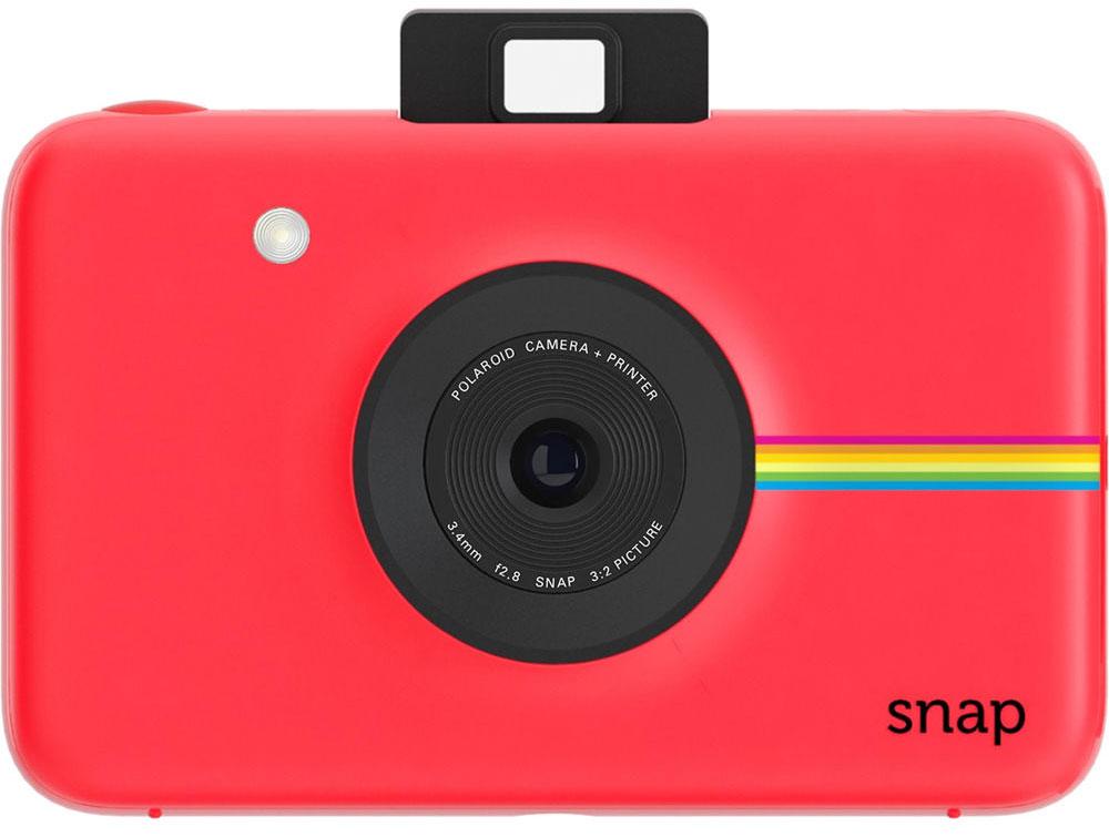 Polaroid Snap, Red фотокамера мгновенной печатиV207054SE000Polaroid Snap - компактная камера, способная сразу распечатать полученный снимок.В устройстве используется технология ZINK, позволяющая получать отпечатки без использования чернил. Даннаяразработка уже успела зарекомендовать себя в других камерах Polaroid. Снимки разрешением 10 Мп мгновеннопреобразуются в отпечатки размером 2х3 дюйма.Хранить фотографии можно на карте памяти microSD объёмом до 32 ГБ. Дополняют картину несколько сценариевсъёмки, возможность выставить таймер, а также режим, в котором камера делает шесть снимков за 10 секунд.Формат отпечатков: 50 мм х 75 мм