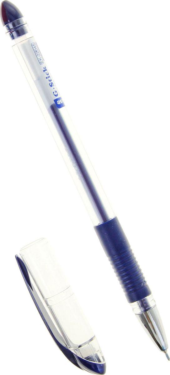 Erich Krause Ручка гелевая G-Stick EK синяя8360СУдобная гелевая ручка с прозрачным корпусом и резиновым грипом. Пишущий узел 0. 5 мм обеспечивает чистое и четкое письмо. Наконечникметаллизированный. Сменный стержень. Рекомендуется использовать стержень Erich Krause G-BASE.