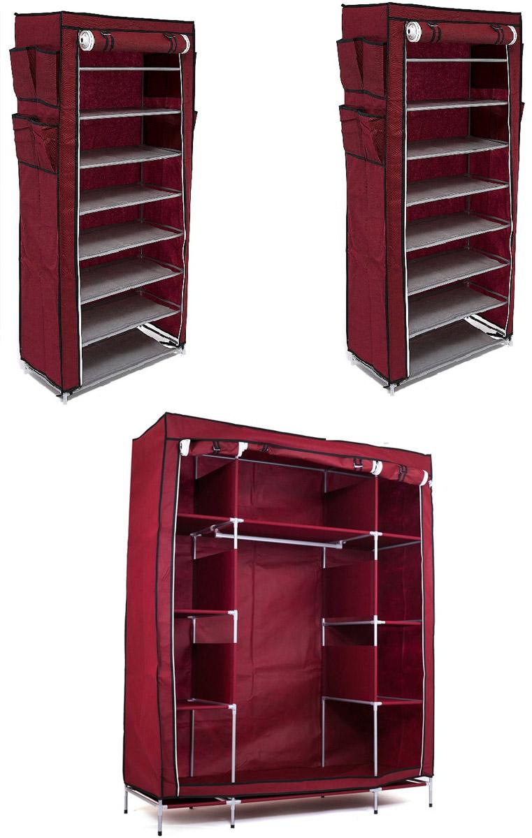 Набор кофров для хранения Территория порядка, цвет: бордовый, 3 шт10503Уникальный дизайн этого комплекта станет настоящим украшением для любого интерьера. Практичная составляющая подобной мебели также вне сомнений. Лёгкие и прочные устойчивые конструкции из каркасов и тканевой обивки могут быть легко собраны вами без посторонней помощи, буквально за несколько минут. Такая мебель будет всегда удобной и максимально практичной, ведь верхнюю тканевую часть при надобности можно всегда постирать либо же попросту поменять на аналогичную другого цвета. Кроме того, такие конструкции всегда будут отличным решением для того, кому по душе мобильность и постоянная смена обстановки. 1400х500х1750; 600х300х1360; 600х300х1360