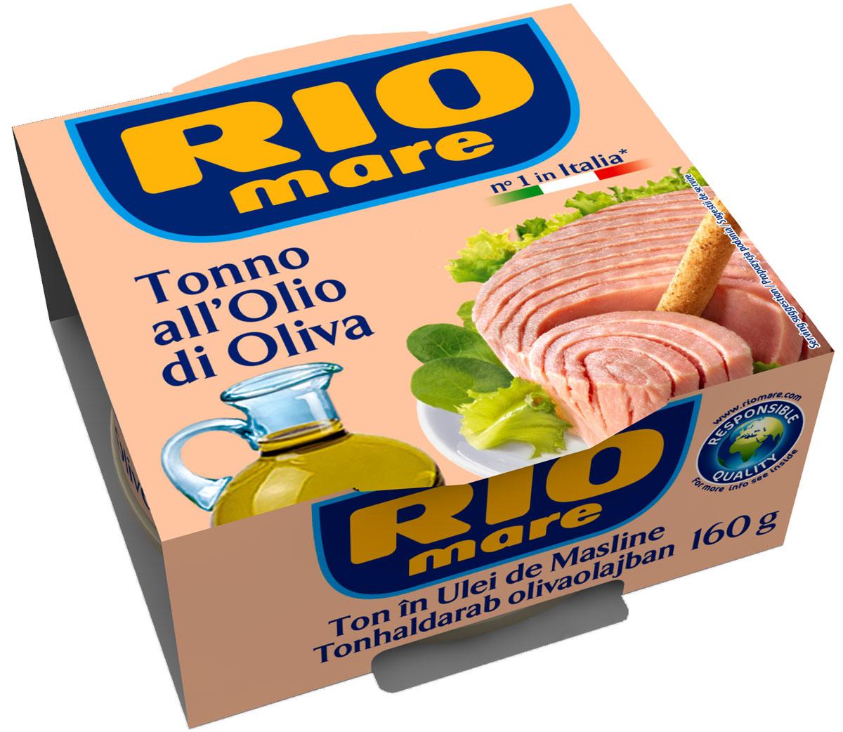 Rio Mare тунец в оливковом масле, 160 г0120710Тунец в оливковом масле всегда был самым популярным консервированнымпродуктом в Италии.Уникальный, ни с чем не сравнимый вкус тунца Rio Mare, обладающего розовымцветом и неизменным качеством.Высокое качество продукта обеспечивается за счет соблюдения строгогоконтроля и тщательного выполнения процессов обработки; тунец упаковывается вбанки с добавлением только качественного оливкового масла и небольшогоколичества морской соли.Продукт идеален для приготовления различных блюд, от закусок до салатов изсвежих овощей и питательных салатов.