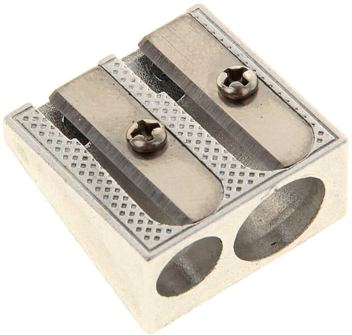 Erich Krause Точилка двойная Ferro Plus34650_желтый, зеленыйУдаропрочный металлический корпус. Имеет два отверстия диаметром 8 мм и 11 мм для заточки стандартных и утолщенных (Jumbo) карандашей. Высококачественное стальное лезвие обеспечивает аккуратную и острую заточку.