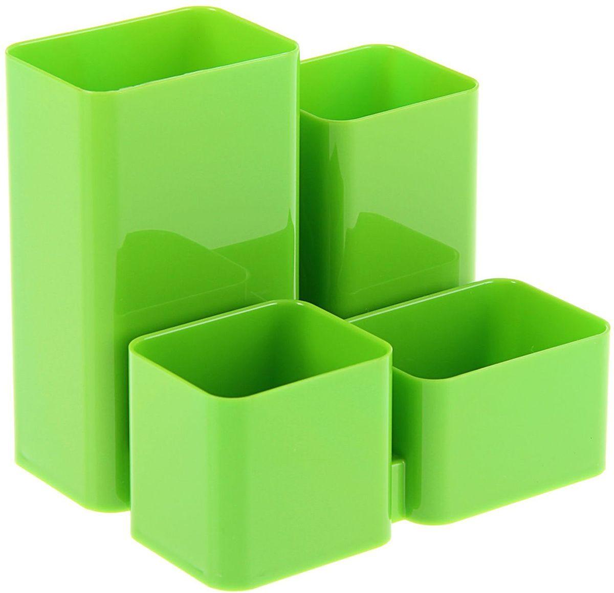 Стамм Органайзер настольный Юниор цвет зеленый96306СОрганайзер Юниор зеленый KIWI ОР310 – простая и практичная вещь. Он очень быстро станет незаменимым жителем на рабочем столе. Множество отделений вместят в себя все самое необходимое, сэкономив тем самым ваше время, пространство на столе и деньги.