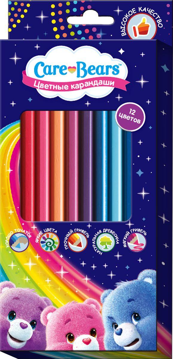 Care Bears Набор цветных карандашей Заботливые мишки 12 цветов610842Яркие карандаши ТМ Заботливые мишки помогут маленькому художнику создавать красивые картинки, а любимые герои вдохновят малыша нановые интересные идеи. В набор входит 12 цветных мягких и одновременно прочных карандашей, идеально подходящих для рисования, письма ираскрашивания. Яркие линии получаются без сильного нажима. Благодаря высококачественной древесине, карандаши легко затачиваются.Прочный грифель не крошится при падении и не ломается при заточке. Состав: древесина, цветной грифель.