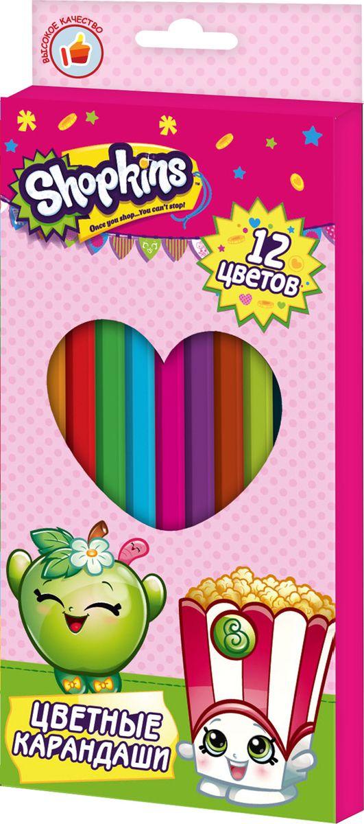 Shopkins Набор цветных карандашей Шопкинс 12 цветов72523WDЯркие карандаши ТМ Шопкинс помогут маленькой художнице создавать красивые картинки, а любимые герои вдохновят малышку на новыеинтересные идеи. В набор входит 12 цветных мягких и одновременно прочных карандашей, идеально подходящих для рисования, письма ираскрашивания. Яркие линии получаются без сильного нажима. Благодаря высококачественной древесине, карандаши легко затачиваются.Прочный грифель не крошится при падении и не ломается при заточке. Состав: древесина, цветной грифель.