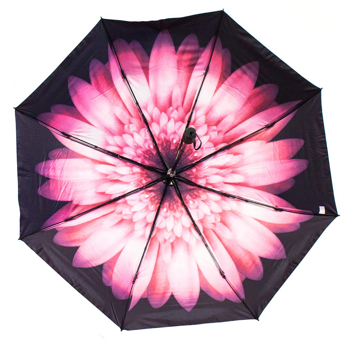 Зонт Эврика Губы, цвет: черный, розовый. 97836Пуссеты (гвоздики)Оригинальный зонт из непромокаемого водонепроницаемого материала со специальным нанесением (рисунок) , при воздействии влаги рисунок меняет цвет.Красочная подарочная упаковка, размер упаковки 28х7х7 см, материал картон.