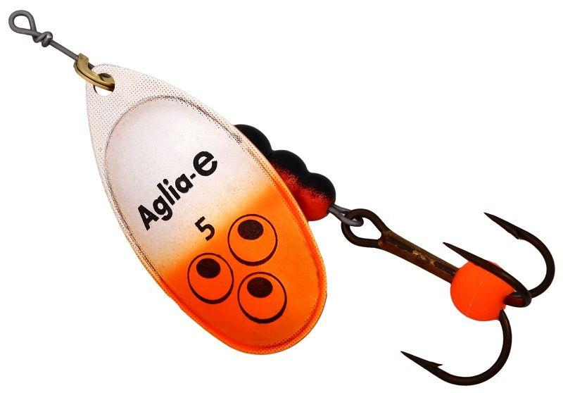 Блесна вращающаяся Mepps Aglia E, цвет: оранжевый, №503/1/12Вращающаяся блесна для ловли хищных видов рыб. Имеет яркий, кислотный цвет. Тройник блесны оснащен флуоресцентным светонакопительным шариком.