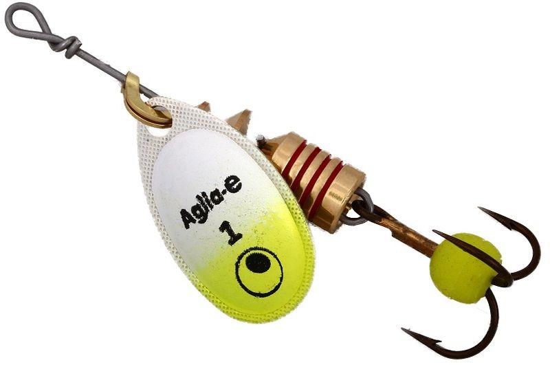 Блесна вращающаяся Mepps Aglia E, цвет: шартрез, №106/4/07Вращающаяся блесна для ловли хищных видов рыб. Имеет яркий, кислотный цвет. Тройник блесны оснащен флуоресцентным светонакопительным шариком.