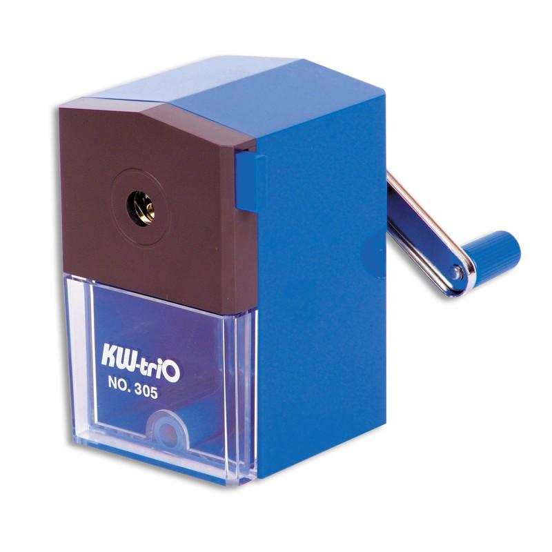 KW-trio Точилка для карандашей 305A цвет синий72523WDОфисная пластиковая механическая точилка KW-trio для одного карандаша. Синяя. Максимальный диаметр карандаша до 8мм. Контейнер для стружки. Струбцина для крепления к столу.