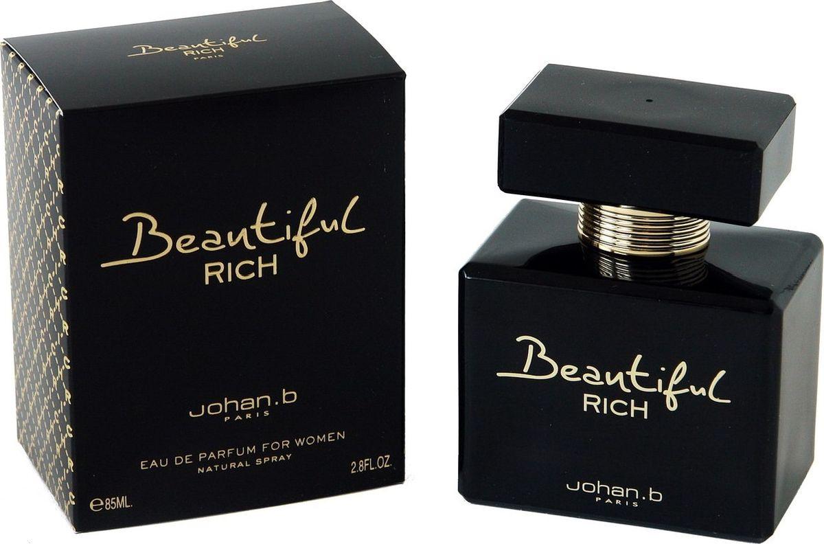 Geparlys Парфюмерная вода Beautiful Rich women Линии Johan.B, 85 млRT1405Является нежным, чувственным ароматом, который может покорить любое сердце. Обладательница данного аромата будет всегда в центре внимания любой публики.