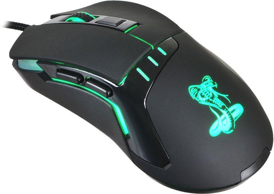 Oklick 865G Snake, Black игровая мышьRZ01-00840100-R3G1Оптическая (2400 dpi), USB, игровая 5but