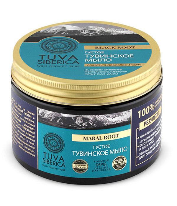 Natura Siberica Tuva Мыло для волос и тела густое тувинское, 500 млSatin Hair 7 BR730MNNatura Siberica TUVA мыло для волос и тела густое тувинское на основе чернокорня монгольского, тибетской мяты и саган-дайли — универсальное натуральное средство, обладающее превосходными очищающими и питательными свойствами. Благодаря оксикоричным кислотам и дубильным веществам чернокорень монгольский обладает противовоспалительными свойствами, регулирует липидный обмен и нежно очищает кожу и волосы. Тибетская мята (лофант) содержит комплекс биологически активных веществ, обладающих антисептическими и антиоксидантными свойствами и способствующих регенерации волос и тела. Саган-дайля — особый компонент, использовавшийся еще в древности в тибетской медицине. Она содержит гликозиды, органические кислоты и витамины, обеспечивающие питание и увлажнение кожи и волос. Все растительные компоненты мыла богаты эфирными маслами, дающими ощущение бодрости, свежести и сияния.