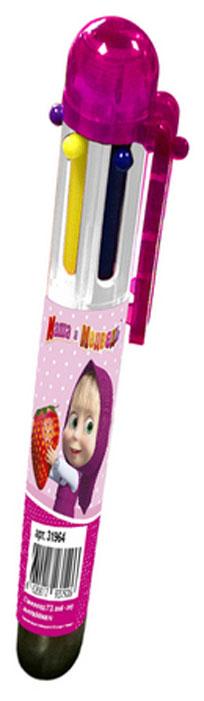 Маша и Медведь Ручка шестицветная72523WDВ учебе часто требуется много разноцветных ручек, которые занимают лишнее место в пенале и прибавляют вес и без того тяжелому рюкзаку.Решить эту проблему поможет многоцветная автоматическая ручка с забавными героями мультфильма Маша и Медведь: с ней не потребуетсяносить с собой много ручек, так как в ней уже есть 6 основных цветов, которые могут потребоваться в учебе (красный, зеленый, фиолетовый,желтый, синий, черный). Шариковая автоматическая ручка имеет удобную форму и нажимной механизм.Состав: ПВХ, пластик,чернила.