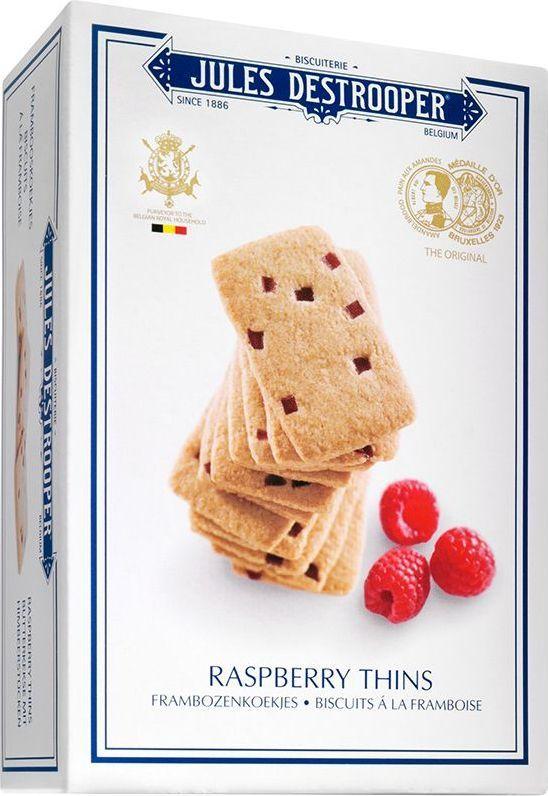 Destrooper печенье с малиновым вкусом, 67 г0120710Тонкое хрустящее печенье с кусочками малины. Отличается насыщенным фруктовым вкусом.