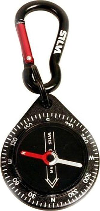 Компас Silva Compass 9 Black Carabiner, цвет: черныйSLA-005Удобный маленький компас со встроенным карабином.