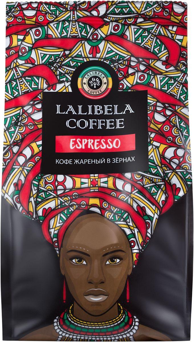 Lalibela coffee Espresso кофе в зернах, 250 г0120710Пленительный и крепкий, Lalibela Coffee Espresso порадует вас сочной цитрусовой кислинкой во вкусе и горчинкой в послевкусии. Побалуйте себя ароматной чашечкой изысканного кофе по традиционному итальянскому рецепту. Лишь безупречное сочетание лучших сортов арабики и робусты позволяет получить этот образец эспрессо, насыщенный и терпкий, как сама жизнь.