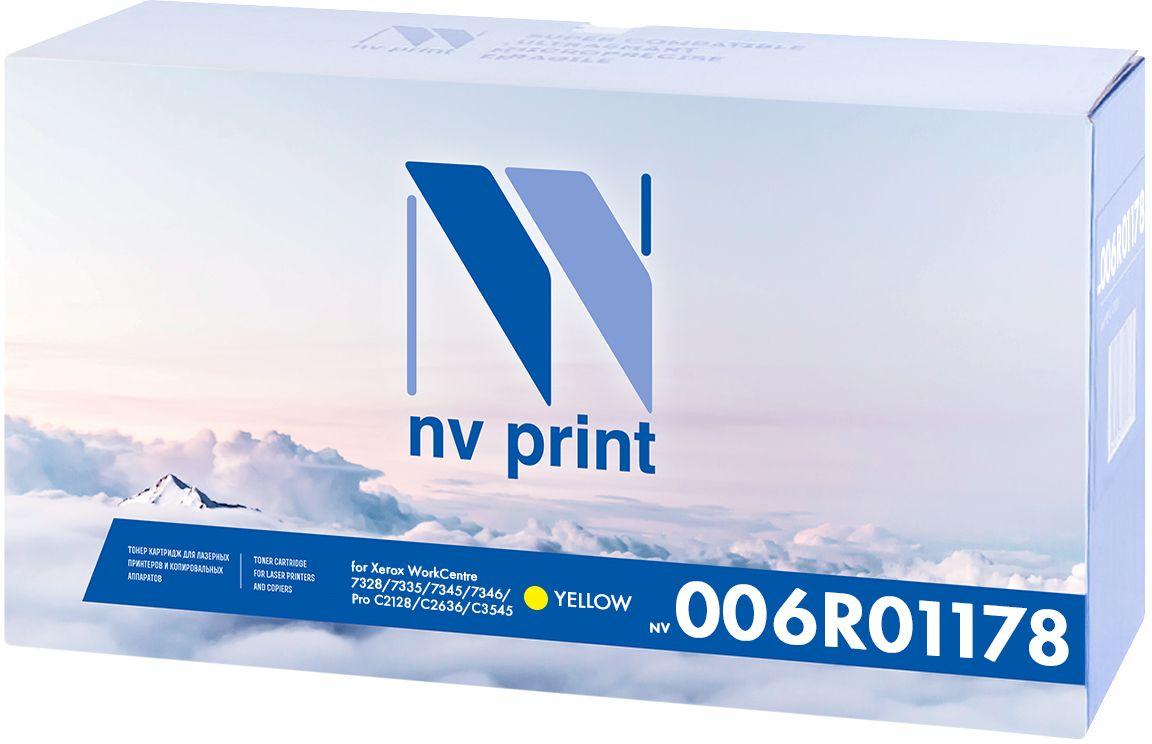NV Print 006R01178Y, Yellow тонер-картридж для Xerox WorkCentre 7328/7335/7345/7346/Pro C2128/C2636/C3545NV-C4193AMКартридж NVP лазерный совместимый Xerox, производитель NV Print, модель NV-006R01178 Yellow для Xerox WorkCentre 7328/7335/7345/7346/Pro C2128/C2636/C3545, ресурс 16000 копий