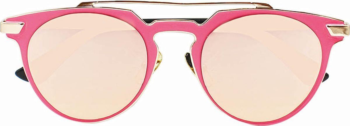 Очки солнцезащитные женские Taya, цвет: черный, розовый. S-O-0096TL-49-RMБроулайнеры, ультрафиолетовый фильтр. Габариты предмета: высота линзы 4,5 см; ширина линзы 5,5 см; длина дужки 14,5 см