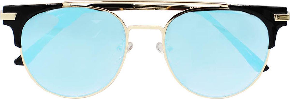 Очки солнцезащитные женские Taya, цвет: синий. S-O-0112DM-RP-OJБроулайнеры, ультрафиолетовый фильтр, зеркальные. Габариты предмета: высота линзы 4,5 см; ширина линзы 5,5 см; длина дужки 14,5 см