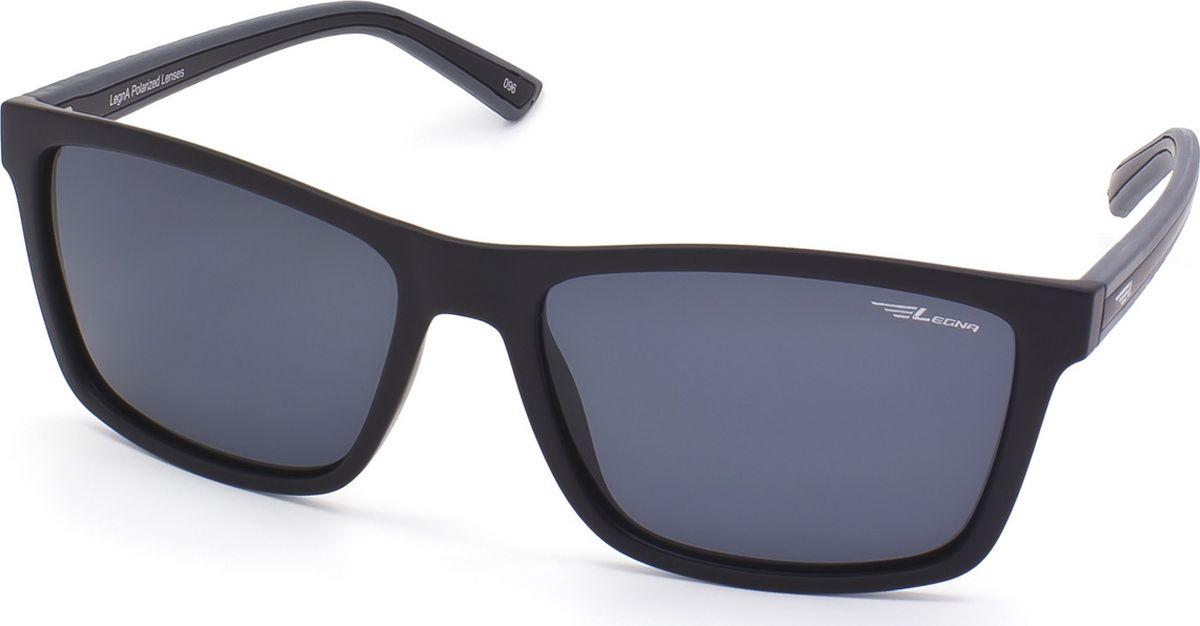 Очки поляризационные мужские Legna, цвет: серый, черный. S8702ABM8434-58AEСолнцезащитные очки LEGNA с поляризационными линзами превосходно предохраняют глаза от любого рода вредных бликов и УФ-лучей, что делает вождение безопасным и комфортным. Также очки LEGNA ничем не уступают самым известным маркам и брендам в эстетической части. Благодаря линзам премиум класса очки LEGNA прекрасно подходят для повседневной носки, занятий спортом, отдыха и конечно для использования за рулем.
