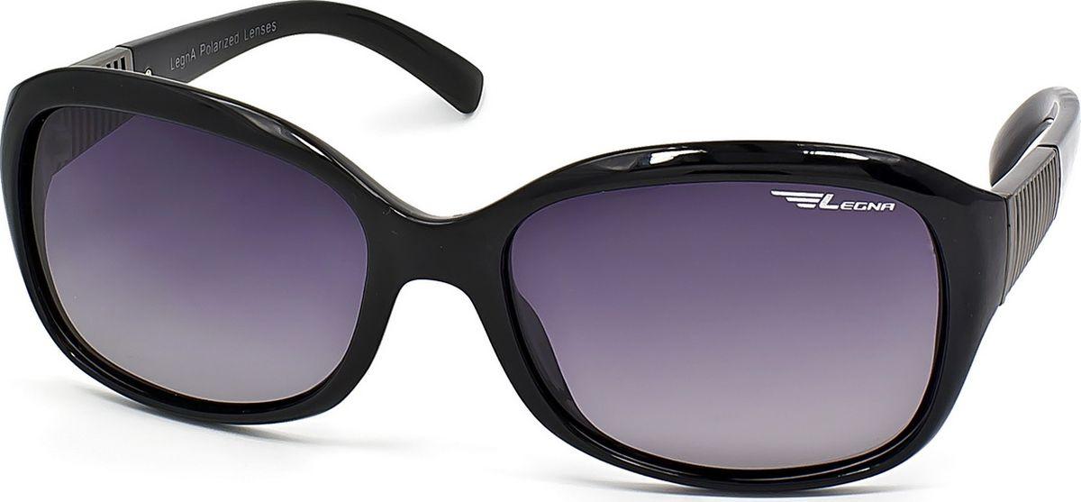 Очки поляризационные женские Legna, цвет: серый, черный. S8708ATL-49-TSСолнцезащитные очки LEGNA с поляризационными линзами превосходно предохраняют глаза от любого рода вредных бликов и УФ-лучей, что делает вождение безопасным и комфортным. Также очки LEGNA ничем не уступают самым известным маркам и брендам в эстетической части. Благодаря линзам премиум класса очки LEGNA прекрасно подходят для повседневной носки, занятий спортом, отдыха и конечно для использования за рулем.