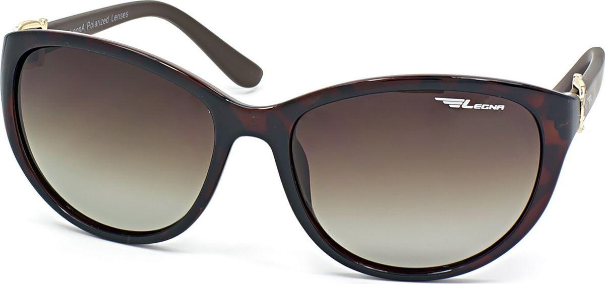 Очки поляризационные женские Legna, цвет: коричневый. S8712BDM-RP-OJСолнцезащитные очки LEGNA с поляризационными линзами превосходно предохраняют глаза от любого рода вредных бликов и УФ-лучей, что делает вождение безопасным и комфортным. Также очки LEGNA ничем не уступают самым известным маркам и брендам в эстетической части. Благодаря линзам премиум класса очки LEGNA прекрасно подходят для повседневной носки, занятий спортом, отдыха и конечно для использования за рулем.