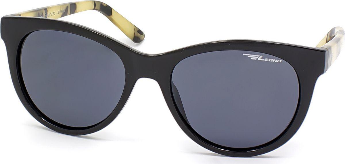 Очки поляризационные женские Legna, цвет: серый, черный. S8714ADM-RP-OJСолнцезащитные очки LEGNA с поляризационными линзами превосходно предохраняют глаза от любого рода вредных бликов и УФ-лучей, что делает вождение безопасным и комфортным. Также очки LEGNA ничем не уступают самым известным маркам и брендам в эстетической части. Благодаря линзам премиум класса очки LEGNA прекрасно подходят для повседневной носки, занятий спортом, отдыха и конечно для использования за рулем.