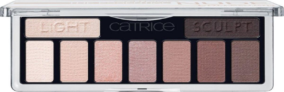 Catrice Тени для век The Essential Nude Collection Eyeshadow Palette 010 нюдовые, 83 г28420_красныйДевять высокопигментированных и стойких оттенков, включая темный матовый для контуринга глаз, а также хайлайтер для расстановки световых акцентов.