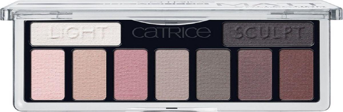 Catrice Тени для век The Modern Matt Collection Eyeshadow Palette 010 матовые, 83 г002722Девять высокопигментированных и стойких оттенков, включая темный матовый для контуринга глаз, а также хайлайтер для расстановки световых акцентов.
